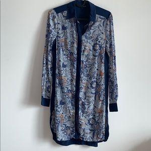 Club Monaco Silk Shirtdress